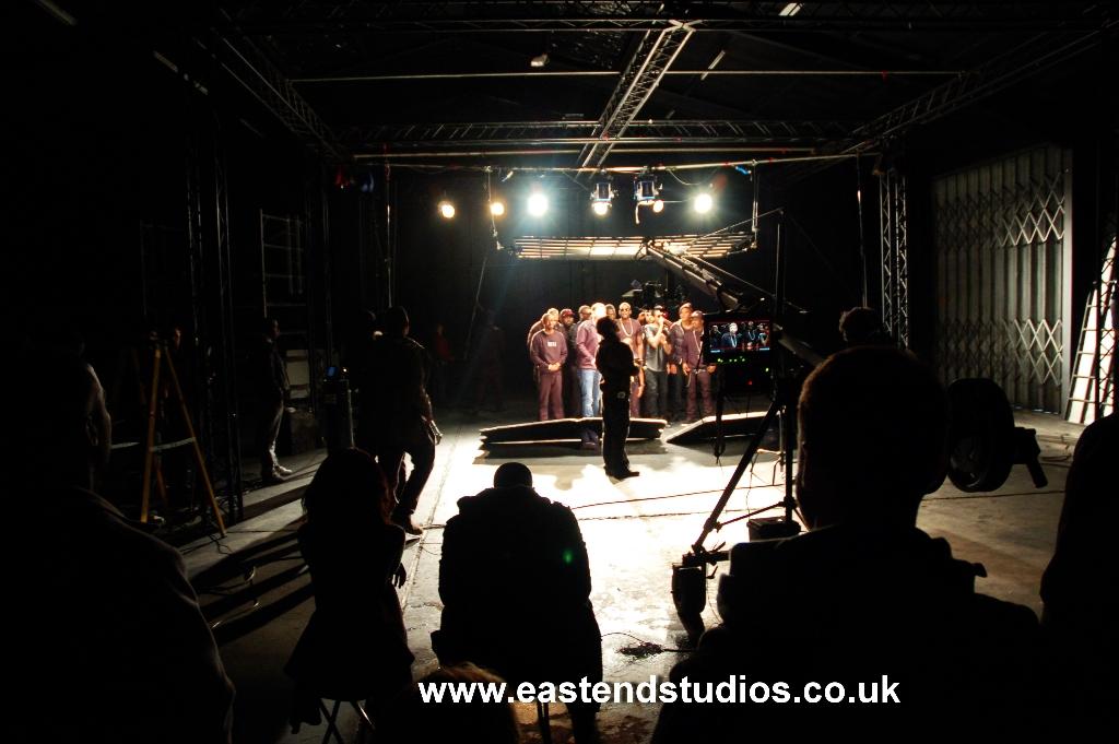 chip-professor-green-wretch32-loick-essien-at-east-end-studios-shoot-londoner-video