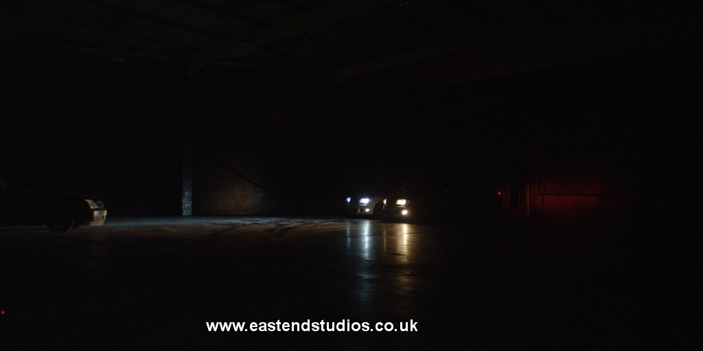 Car shoot on set at East End Studios